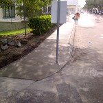 Concrete Repair, Tampa Corner Curb Photo - Asphalt and Concrete Parking Lot Maintenance (ACPLM)
