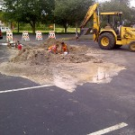 Asphalt Repair, Tampa Parking Lot Work Photo - Asphalt and Concrete Parking Lot Maintenance (ACPLM)