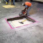 Concrete Repair, Tampa Work Crew Photo - Asphalt and Concrete Parking Lot Maintenance (ACPLM)