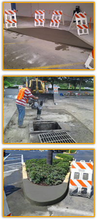 Man doing Concrete Repair in the Tampa Area - Asphalt and Concrete Parking Lot Maintenance (ACPLM)