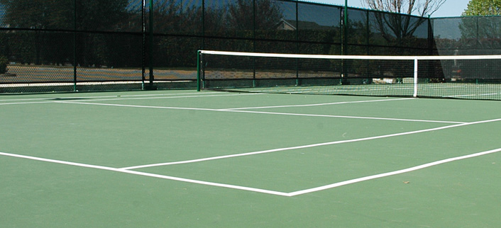 Tennis Court Surfacing - freshly redone tentis court